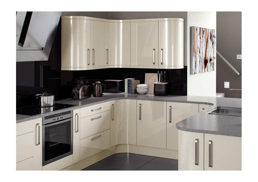 Built under single oven housing casa cream pebble kitchens for Service void kitchen units
